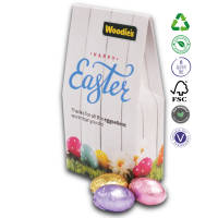 Promotional Chocolate Egg Easter Satchel Boxes in a full colour printed box by Total Merchandise