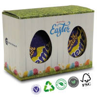 Branded Double Boxed Mini Creme Eggs with Custom Full Colour Printed Box by Total Merchandise