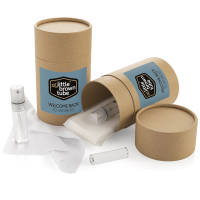 Promotional The Little Brown Tube Back to Work Kit in brown colour with label by Total Merchandise