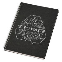 Promotional Nero A5 Wire-o Notebooks in Black with logo printed design by Total Merchandise