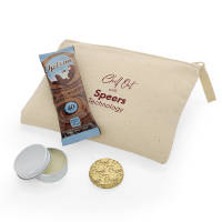 Promotional Here We Go Again 'Chill Out' Cotton Pouch Kit in Natural colour by Total Merchandise