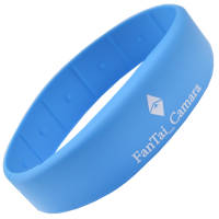Pantone matched and custom printed RFID Silicone Wristbands from Total Merchandise