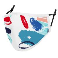 Custom printed Adjustable 3 Layer Reusable Face Masks in White from Total Merchandise