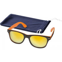 Printed Baja Sunglasses in Orange/Black colour with printable pouch by Total Merchandise