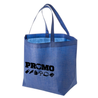 Promotional Kansas Non Woven Shopper Bags in Blue with a Printed Logo by Total Merchandise