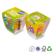 Promotional Jelly Bean Tiny Tubs Printed with a Full Colour White Paper Sleeve by Total Merchandise