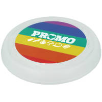 Promotional Rainbow Turbo Pro Flying Discs in White Full Colour Printed by Total Merchandise