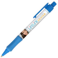 Promotional Chaplin Antimicrobial Ballpens in light blue with logo print by Total Merchandise