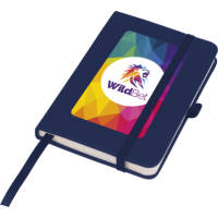 Promotional Mood Pocket Notebooks in navy blue with full colour printed design by Total Merchandise