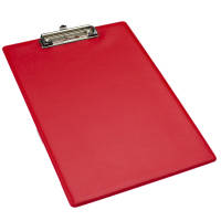 Branded A4 Clipboards in red printed logo design by Total Merchandise