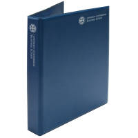 Promotional PVC A4 Ring Binders in dark blue printed with full colour design by Total Merchandise