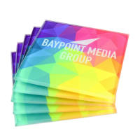 Promotional Dye Sub Glass Coasters in clear with full colour print by Total Merchandise