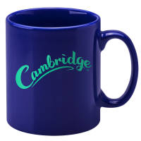 Promotional Cambridge Colour Mugs in Reflex Blue with printed logo by Total Merchandise