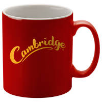 Promotional Red Cambridge Duo Mugs in Red/White with logo design by Total Merchandise