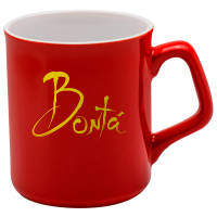 Custom printed Sparta Duo Mugs in red/white available from Total Merchandise