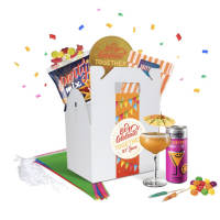 Promotional Party Bundle Gift Boxes in white box with sweets and drinks inside by Total Merchandise