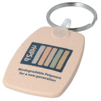 Promotional Recycled Biodegradable Plastic Keyrings in buoy with printed logo by Total Merchandise