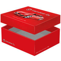 UK Custom Printed Adbox Premium Gift Boxes with Lid Off from Total Merchandise