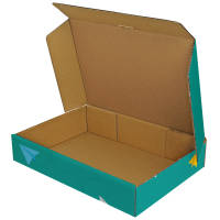 Opened Promotional Adbox Corrugated Mailing Boxes Printed in the UK by Total Merchandise