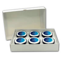 Pack of 6 UK Express Promotional Postal Iced Cupcake Boxes Printed with a Logo by Total Merchandise