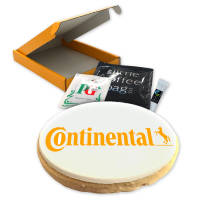 Promotional Biscuit Brew Boxes with full colour printed icing on biscuit by Total Merchandise