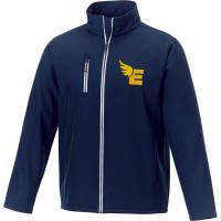Custom branded Orion Men's Softshell Jacket in navy from Total Merchandise