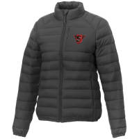 Promotional printed Women's Puffer Jacket in storm grey from Total Merchandise