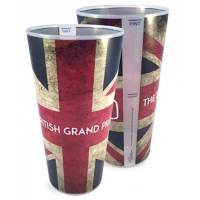 Full colour custom branded Pint Plastic Festival Cups with a logo printed all over