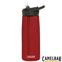 Custom 750ml CamelBak Eddy Sports Bottles in Cardinal Red with straw by Total Merchandise