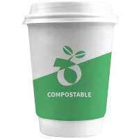 Eco Promotional Double Walled Compostable Paper Cups Printed with a Design by Total Merchandise
