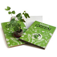 Custom Printed Eco Postcard Gardens with an Established Seedling from Total Merchandise