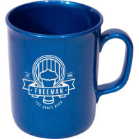 Promotional Eco Spectra Reclaimed Plastic Mugs in Blue with branded logo by Total Merchandise