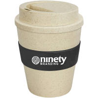 Branded Eco-friendly Express Coffee Cups with Black Grip Printed with a Logo by Total Merchandise