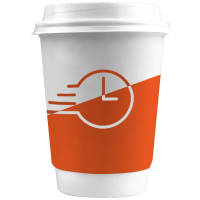 48 Hour UK Express Double Walled Paper Cups in White with White Lids from Total Merchandise