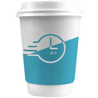 Express Printed 4-7 Day Double Walled Paper Cups with White Lids from Total Merchandise