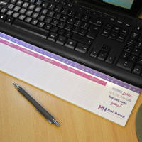 UK Printed Keyboard Notepads on a Desk from Total Merchandise