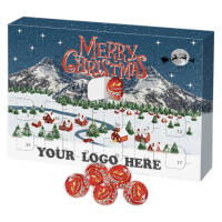 UK Made Eco-friendly Lindor Advent Calendars Printed with a Logo by Total Merchandise