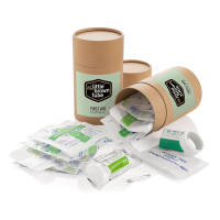 Promotional The Little Brown Tube First Aid Kit Printed with a Logo by Total Merchndise