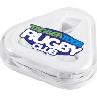 UK Express Printed Triangular Case Earphones in White from Total Merchandise