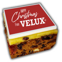 Custom Printed Christmas Cake Bites Made in the UK and Branded by Total Merchandise