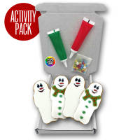 UK Branded Christmas Gingerbread Decorating Kits Printed with a Logo by Total Merchandise