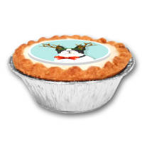 UK Printed Mince Pies with a Company Logo from Total Merchandise