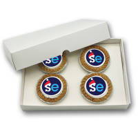 UK Printed Mince Pie Postal Packs with 4 Mince Pies from Total Merchandise
