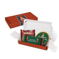 UK Branded Christmas Treats Box in Red with Biscuits and Chocolate from Total Merchandise