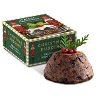 UK Branded Eco Box Christmas Puddings Printed with a Logo by Total Merchandise
