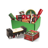 UK Branded Luxury Mini Christmas Hamper Selection Boxes in Green from Total Merchandise