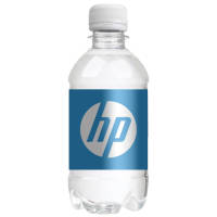Full colour printed 330ml Bottled Water with a white screw cap from Total Merchandise