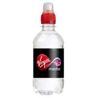 Company logo printed 330ml Bottled Water with a red sports cap from Total Merchandise