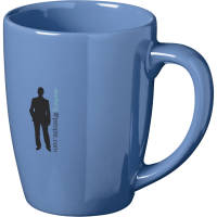Corporate Branded Medellin Mugs in Blue Printed with a Logo by Total Merchandise