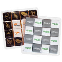 Promotional 16 Piece Chocolate Neapolitan Trays for Hotel Merchandise